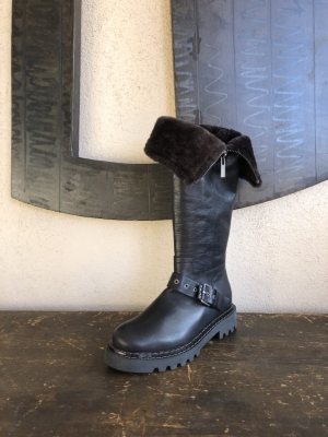 Tall Shearling Boot Fold-over