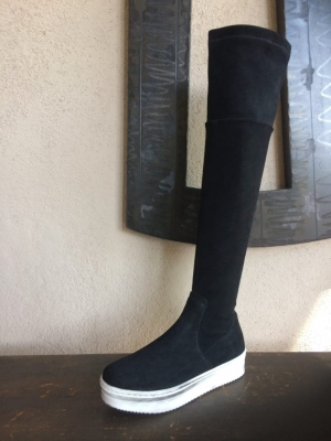 Knee High Sneaker Boot Nero