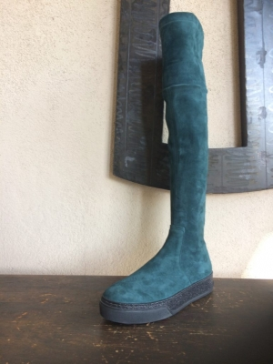Knee High Sneaker Teal